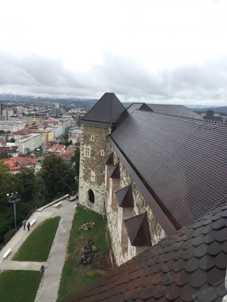 Castello di Lubiana capitale della Slovenia
