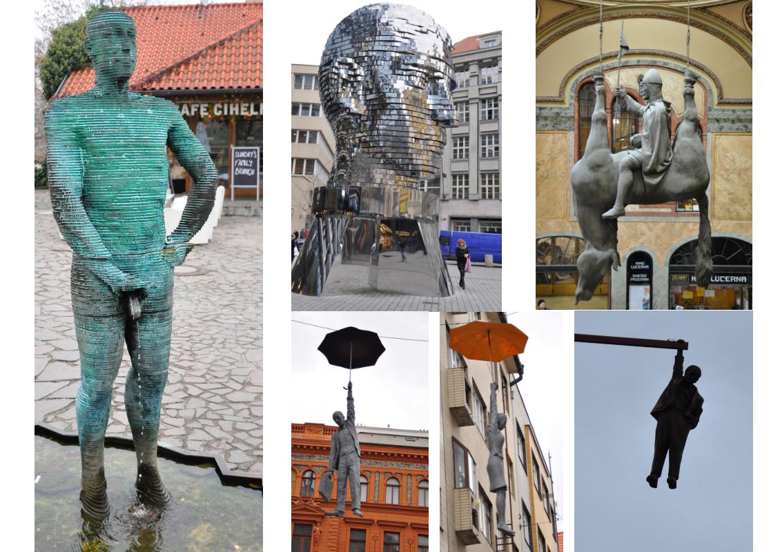 Cosa vedere a Praga - le sculture di Cerny